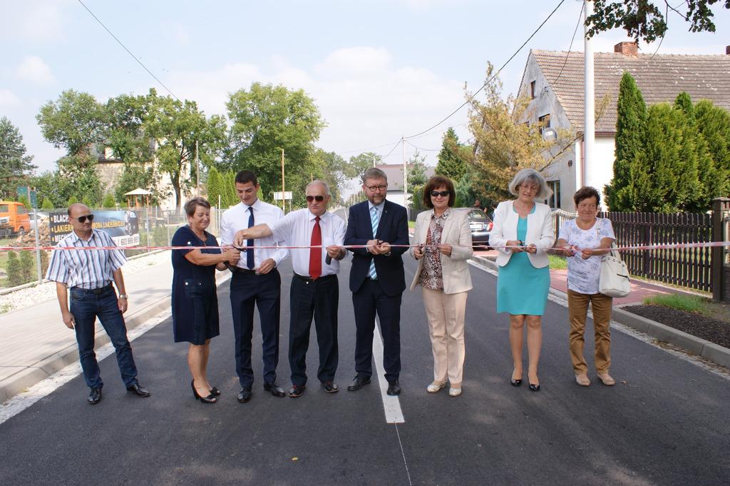Otwarcie drogi w Magnuszowicach