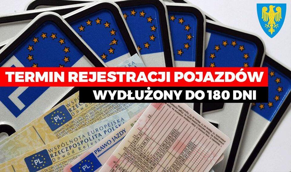Wydłużenie rejestracji 180 dni