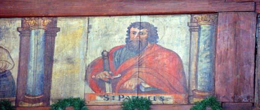 Polichromia w kościele św. Jadwigi w Bierdzanach