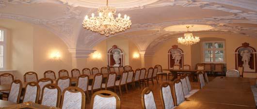 Sala rycerska na zamku w Prószkowie