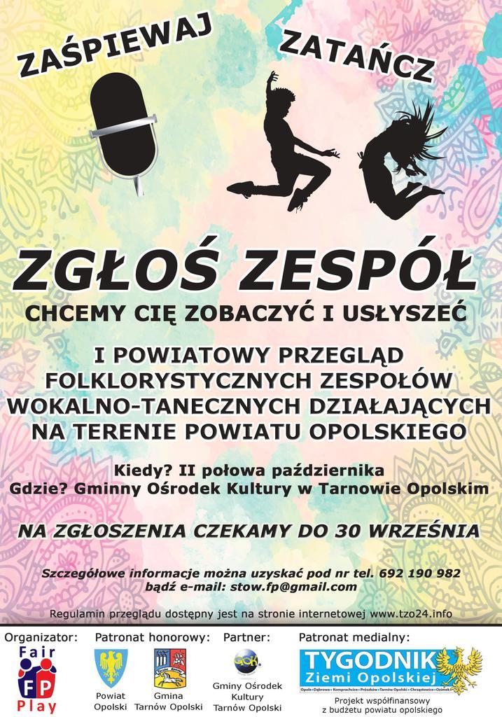 I powiatowy przegląd folklorystycznych zespołów wokalno-tanecznych