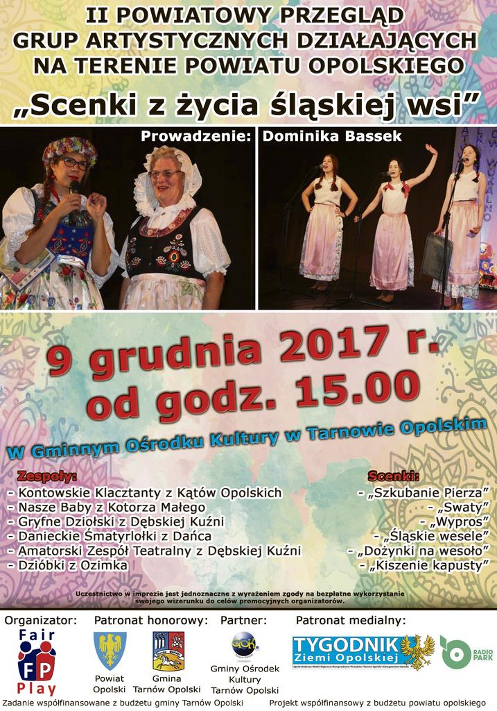 Scenki z życia śląskiej wsi- plakat