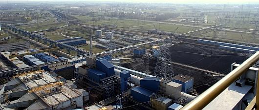Widok z komina Elektrowni Opole