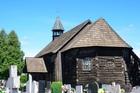 Drewniany kościół w Popielowie