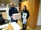 Placówka Straży Granicznej w Opolu dzieli się słodyczami (6.03.18)